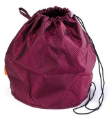 Ruby Red Jewel Large GoKnit Pouch Project Bag w/ Loop & Drawstring