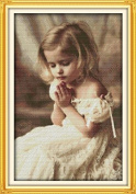 Happy Forever Cross Stitch Figure, the pray girl