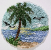 MCG Textiles 37654 Palm Tree Latch Hook Rug Kit