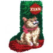 MCG Textiles Kitty Cat Stocking Latch Hook Kit