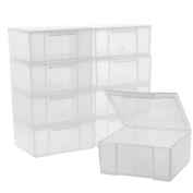 12 Storage Square Clear Container For Crafts Beads Small Items Organiser 5.1cm Square