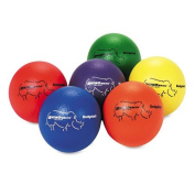 Champion Sports - Dodge Ball Set, Rhino Skin, Assorted Colours, 6/Set RXD6SET (DMi ST