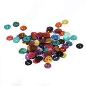 Ecloud ShopUS 100 Multicolor Round Shell Mother of Pearl Buttons New FASHION