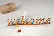 """Chipboard Word """"Welcome"""""""