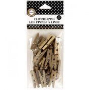 Canvas Home Basics Clothespins, Mini, Gold