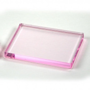 Pink Acrylic Stamping Block 15cm X 15cm