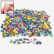 500 pc Foam TRANSPORTATION Self Adhesive Craft Shapes/CARS/Bike/Truck/PLANE/Stickers/Boy Arts/Crafts/2.5cm - 5.1cm /Activity