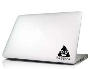 Laptop Decal Poop happens funny cute humour love vinyl sticker mac skin saying lettering art keyboard decal Die-cut