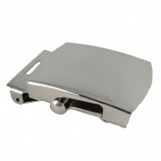 1 Nickel Military Belt Buckle and End Tip - 3.2cm