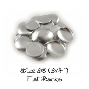 Cover Buttons - 1.9cm (SIZE 30) - FLAT BACKS - QTY 100