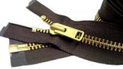 Zipperstop Wholesale YKK® Sale 70cm Extra Heavy Duty Jacket Zipper (Special Custom) YKK #10 Brass Separating ~ Colour 570 Sept. Brown