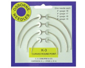 C.S. Osborne & Co. No. K-3 - Curved Round Point Needle Card