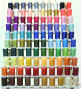 NEW Brother 100 Cones & RACK Poly Embroidery Threads 40wt from ThreadNanny for Brother / Babylock Embroidery Machines like PE-700, PE700II, PE-750D, PE-770, PE-780D, SE270D, SE400, Innovis 1000, Innovis 1200, Innovis 1250D, PC-6500, PC-8200, PC-8500 An ..