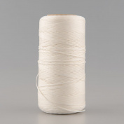 {Factory Direct Sale} 260M 1mm 150D Flat Waxed Wax Thread Cord Sewing Craft For DIY Leather Tool Hand Stitching -- White