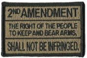 2nd Amedndment Tactical Patch - Coyote Tan