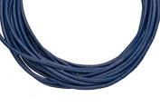 Full-grain leather cord, 1.5mm round Navy blue 5 yard
