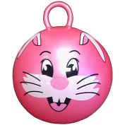 46cm Jumping Ball with Round Handle and Rabbit Face