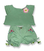Capris and Top - 6038 Fits 38cm - 41cm bears, includes Build a Bear, The Bear Mill, and Stuff your own Animals.