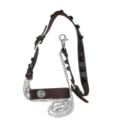 iJewelry2 Double Jeans Pants Leather Chain Wallet Safety Pin Skull Stainless Steel