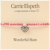 Carrie Elspeth Wonderful Mum Heart Bracelet - Mothers Day