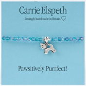 Carrie Elspeth Pawsitively Purrfect Cat Sentiment Stretch Bracelet