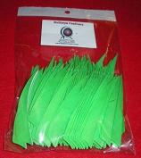 Bullseye Feathers 10cm RWSC Pkg/100 Flo Green