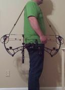 Muddy River Gear Archery Custom Shoulder Sling Blackand Neon Green cat