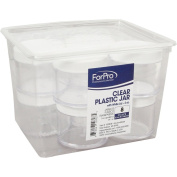 Clear Plastic Jar with White Lid 60ml 8ct.