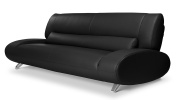 Black Aspen Leather Sofa