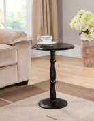 Khome Espresso Finish Wood Plant Stand Accent Side End Table