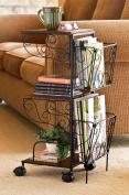Rolling Magazine Storage Table