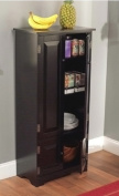 Tall Kitchen Cabinet - Black - Has Two Fixed and Two Adjustable Shelves