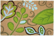 Jellybean Area Accent Rug Green Leaves