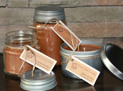 Maple Creek Candles VANILLA ALMOND COFFEE ~ Morning Mud ~ Soy Wax Blend 410ml tin candle