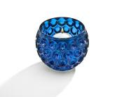Circle Design Votive Bowl Blue