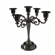 KINGFOM™ European Style Metal Pillar Candelabra Wedding Gift Centrepiece Chic Decor Candle Holders Black