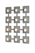 Mariano Metal Decor WA-11002-1-CAN-SIL Platinum Silver 12 Candle Sconce/Metal Wall Decor Art