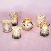 Luna Bazaar Best of Mercury Glass Tea Light Candle Holders