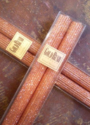 20cm Natural Beeswax Glitter Candles, Copper Colour, Boxed Set of 2