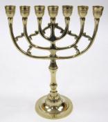 27cm Brass Menorah Judaic Hanukkah Chanukkiyah - Temple or Home