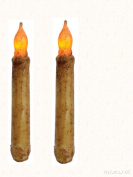 Burnt Ivory 15cm Taper Candle with Timer, 2 Pack