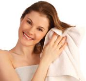 Comfy White Microfiber Hair Towel - 48cm x 100cm