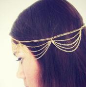 Nero Women's 5 Tiers Casual & Party & Evening Headbands for Women, Head Chain for Women