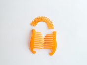 Interlocking Banana Combs Hair Clip French Side Comb Holder 80's 90's Soft and Bendable Plastic Updo Hair Clip