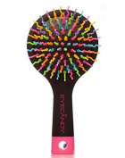 [EYECANDY] Rainbow S-Curl Air Volume Brush With Back Mirror - best detangling brush, gently Protects the scalp
