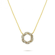 Gold Circle Necklace 14k Gold Filled circle pendant, Interlocking Infinity Necklace, Everyday Necklace