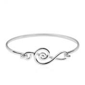 Musical Melody Treble Clef .925 Sterling Silver Bracelet