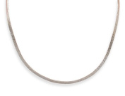 Sterling Silver 3mm Hammered Open Back Collar Necklace - JewelryWeb
