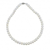 "8-9mm White Cultured Freshwater Pearl Necklace 20"" Length Princess Length"