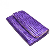 Chic Lightweight Metal Mesh Flap Clutch Evening Bag - Diff Colours Avail